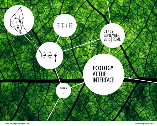 Ecology at the interface: science-based solutions for Human well-being, 21-25 September 2015, Rome