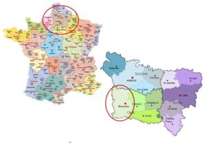 Figure 4 - Situation de Beauvais, en Picardie