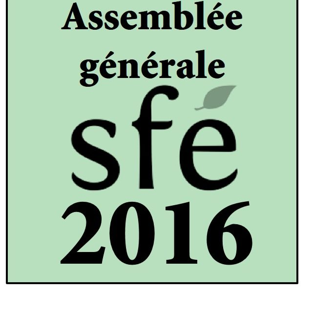 Assemblée générale 2016 de la SFE, le 26 janvier 2017 à Paris