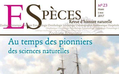 La SFE soutient la revue «Espèces»