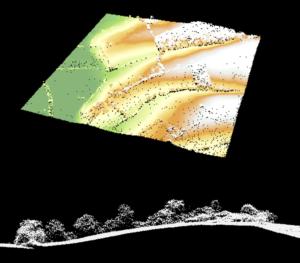 Illustration des données Lidar