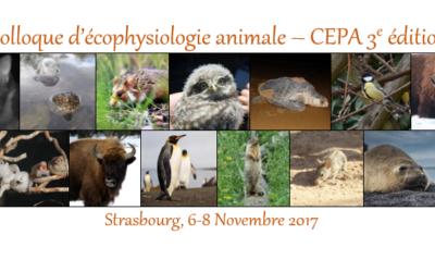 3ème Congrès d'EcoPhysiologie Animale (CEPA III), Novembre 2017, Strasbourg