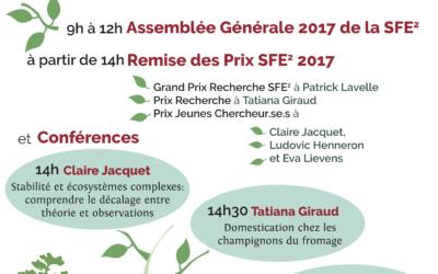 AG + Remise des prix SFE2 2017- 18 Janvier, à partir de 9h, Paris