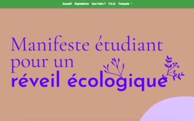 Manifeste étudiant pour un réveil écologique