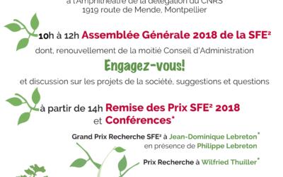 [AG SFE2] Rappel : 23 Janvier 2019 à Montpellier