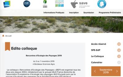 Rencontres d'écologie du paysage 2019